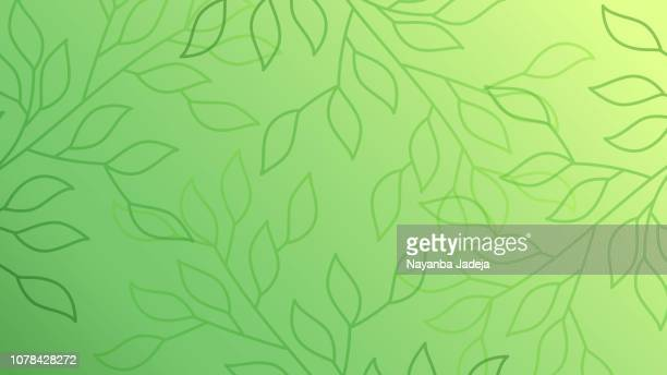green leaves seamless pattern background - environment stock illustrations