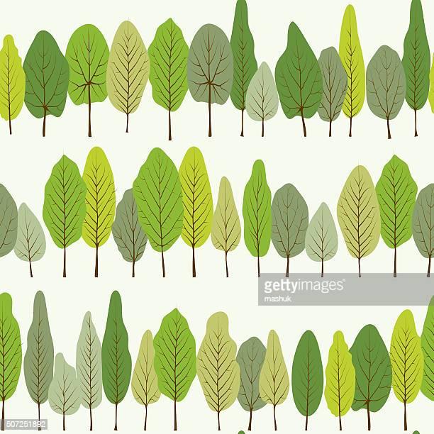 Grüne Blätter Nahtlose Muster