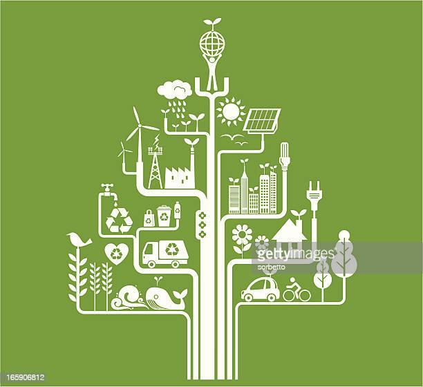 green living - energy efficient stock illustrations, clip art, cartoons, & icons