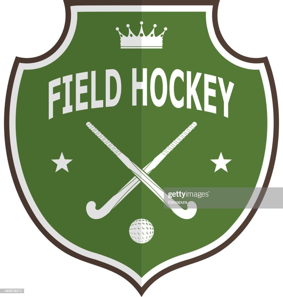 Green logo badge for team field hockey on white background