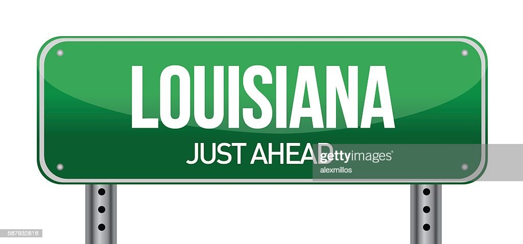 Green Louisiana, USA street sign