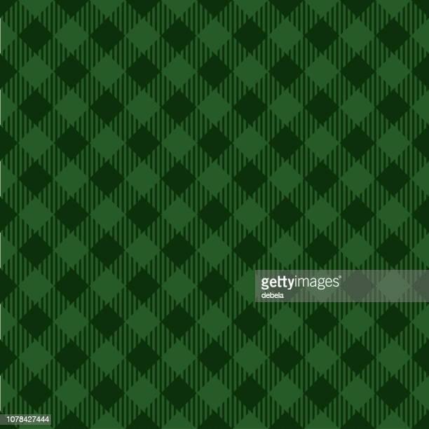 green lumberjack argyle pattern background - scottish tweed stock illustrations, clip art, cartoons, & icons