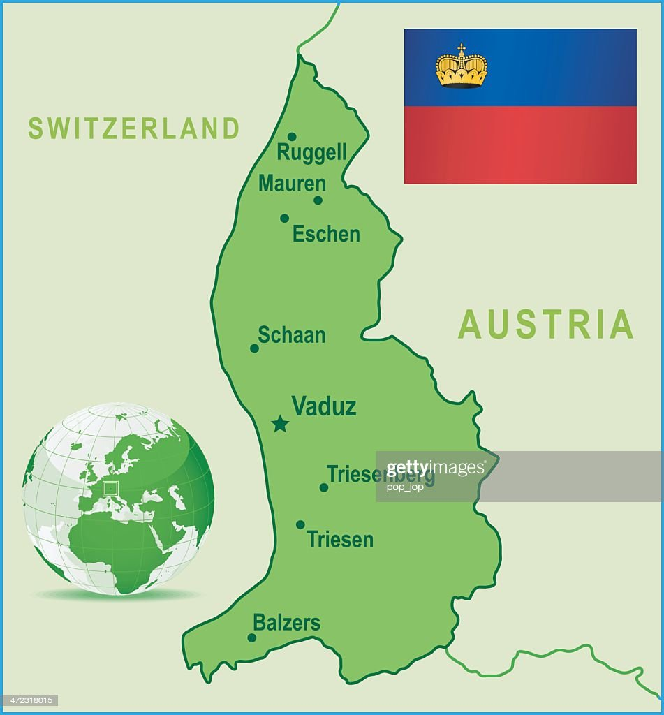 Green map of liechtenstein cities and flag vector art getty images green map of liechtenstein cities and flag vector art publicscrutiny Gallery