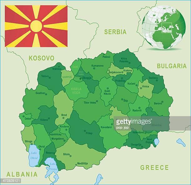 Mazedonien Karte.60 Hochwertige Mazedonien Stock Vektoren Und Grafiken Getty Images