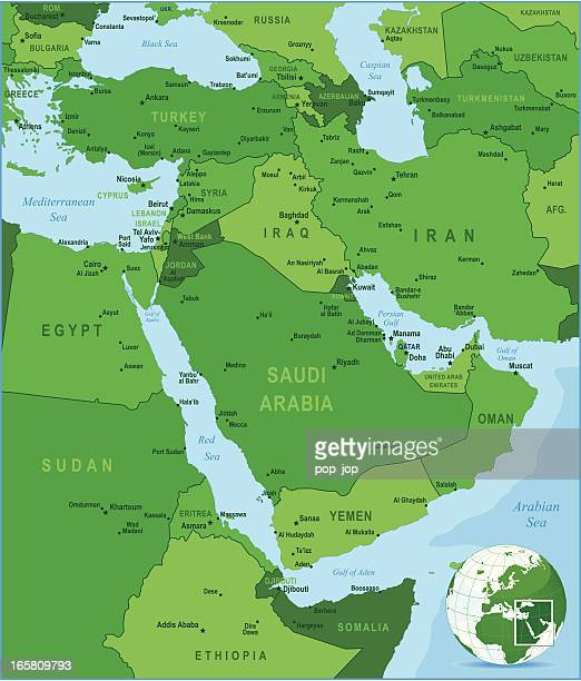 Green Map of Middle East