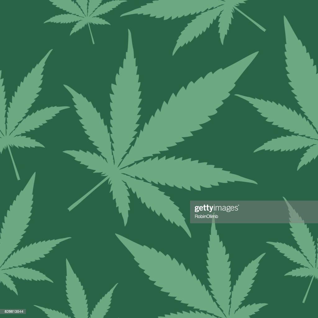 Green Marijuana Seamless Pattern : stock illustration