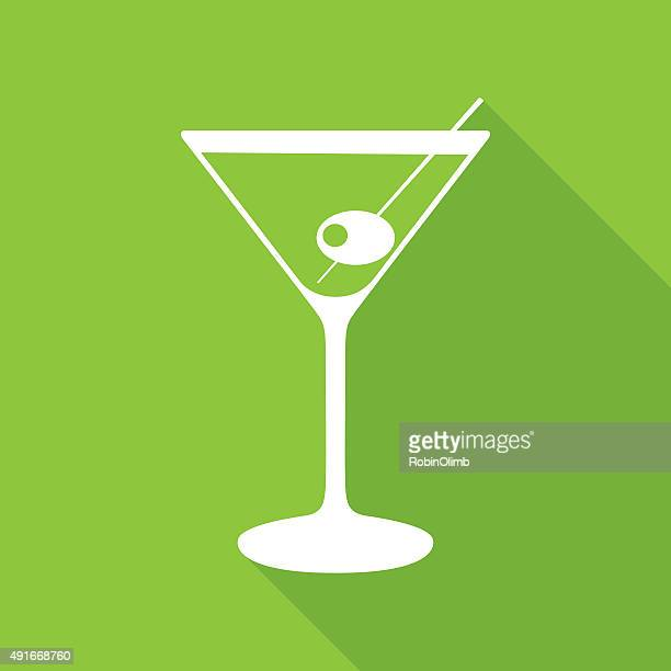 green martine icon - gin stock illustrations, clip art, cartoons, & icons