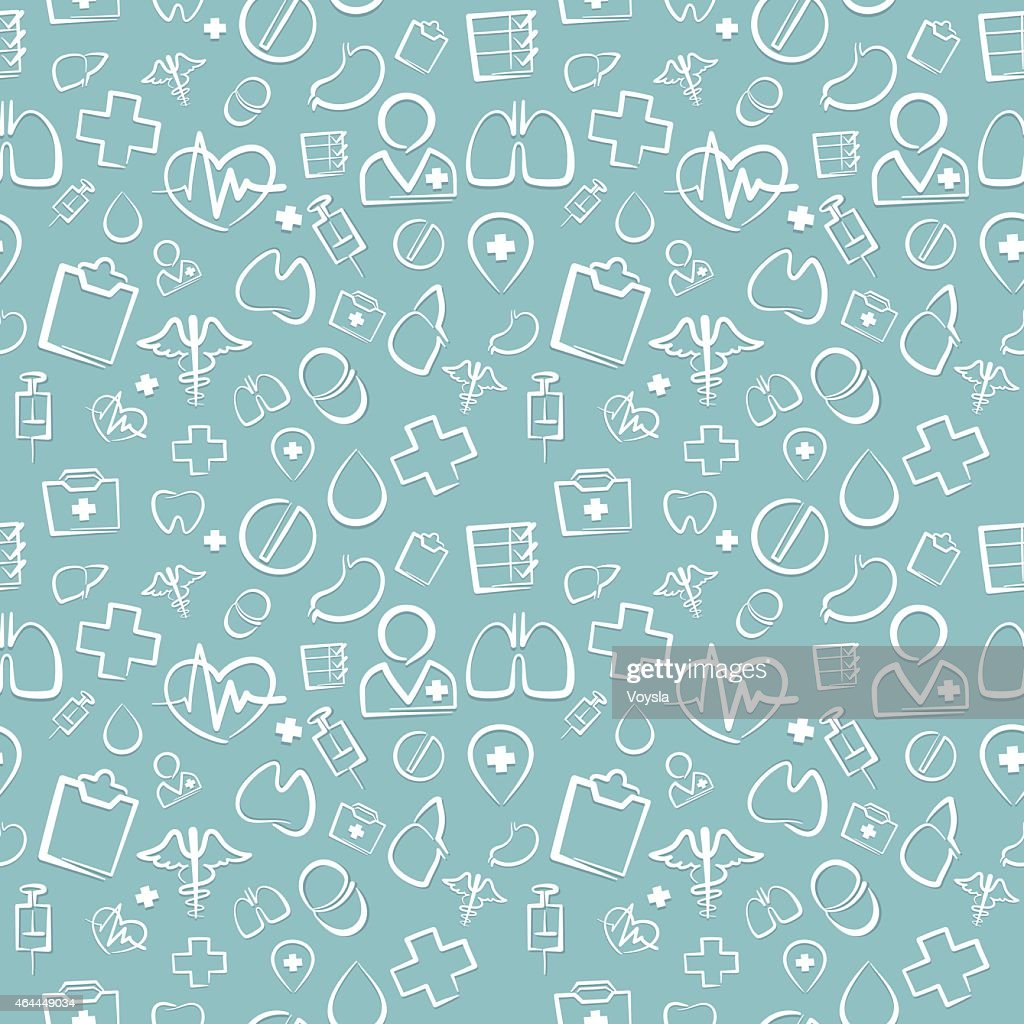 Green Medical Seamless Pattern