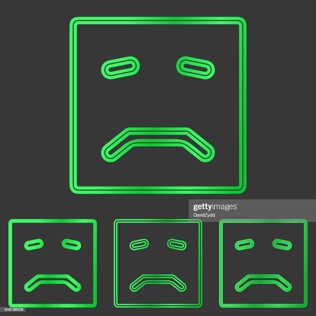 Green metal sadness  design set