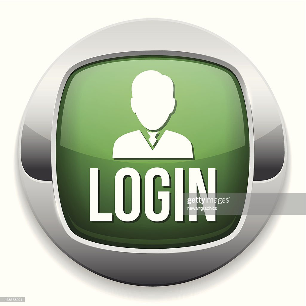 Green metallic login button