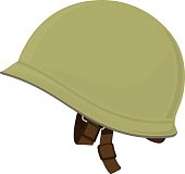 Green Military Helmet