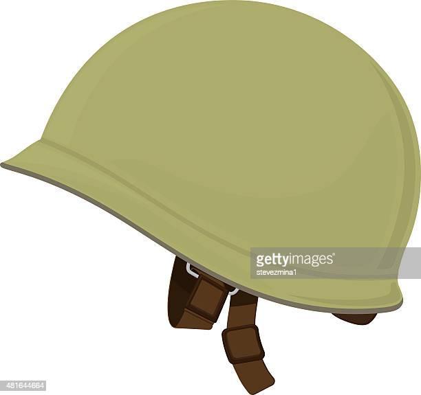 green military helmet - us marine corps stock illustrations, clip art, cartoons, & icons