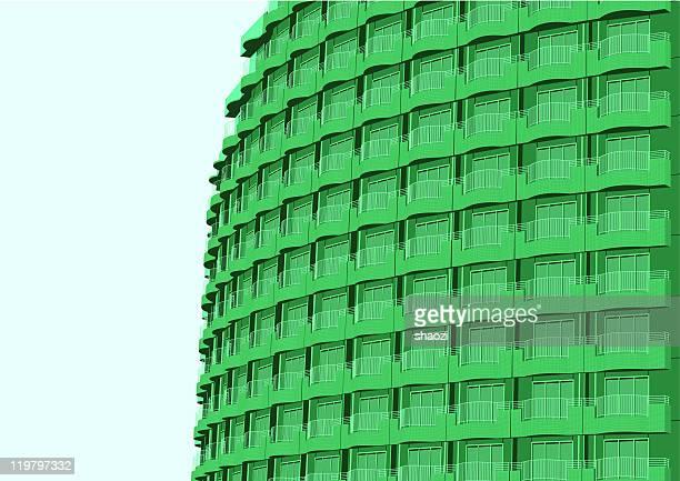 green modern building