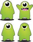 Green Monster Character