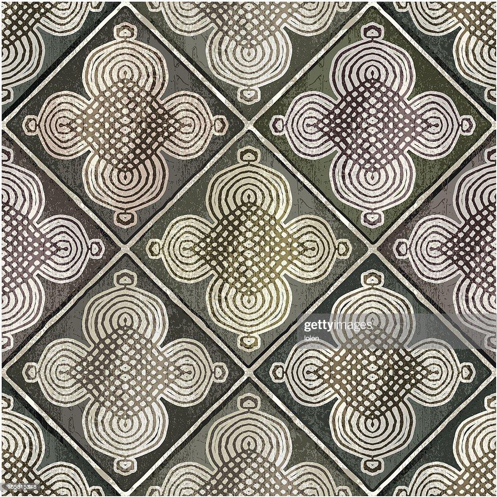 green Moroccan tiles : stock illustration