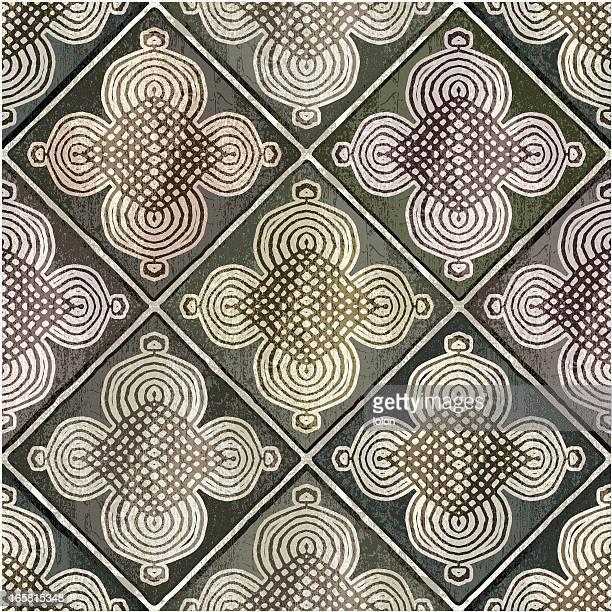 green moroccan tiles - morocco stock illustrations, clip art, cartoons, & icons