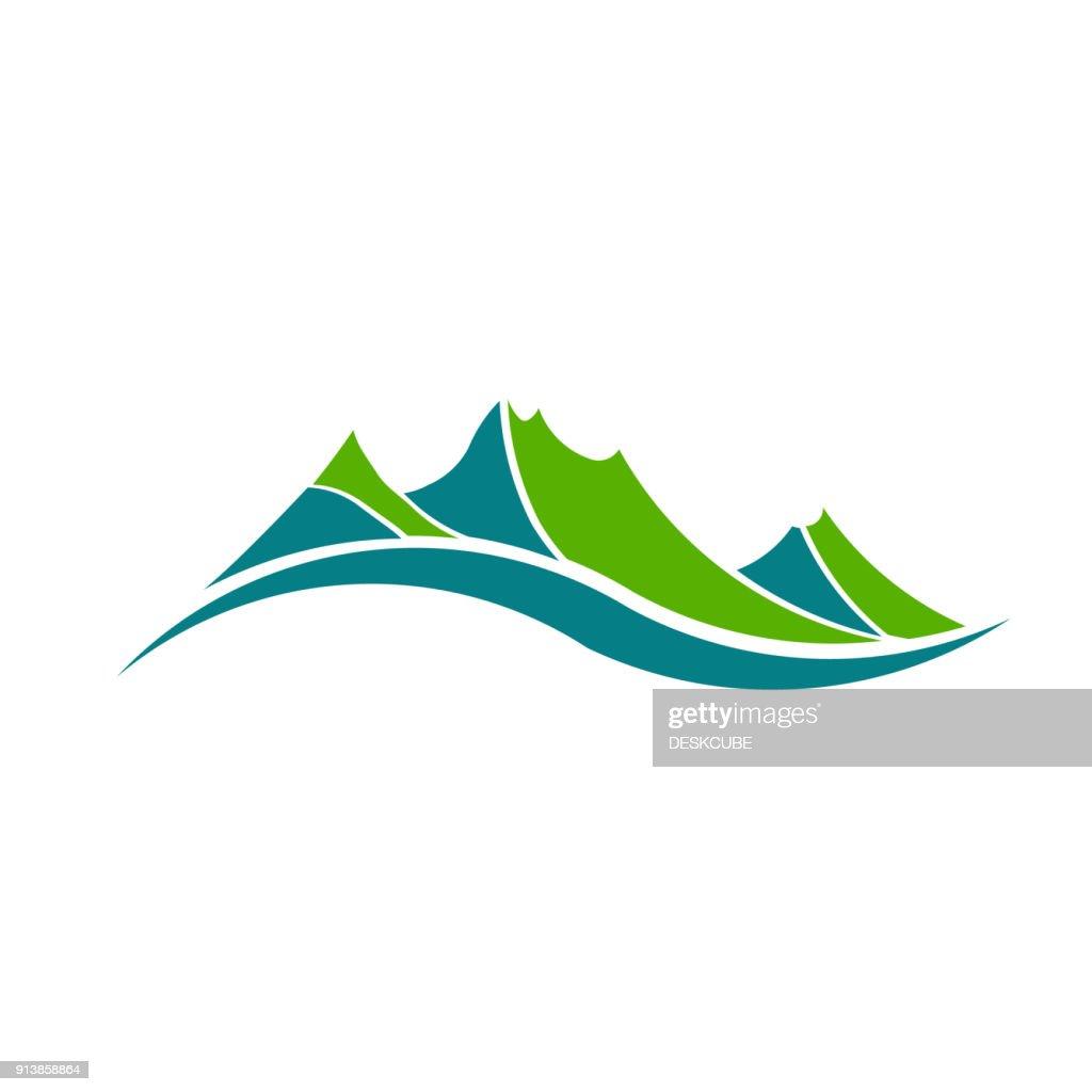 Green Mountains Vector Illustration
