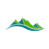 Green Mountains Vector Illustration