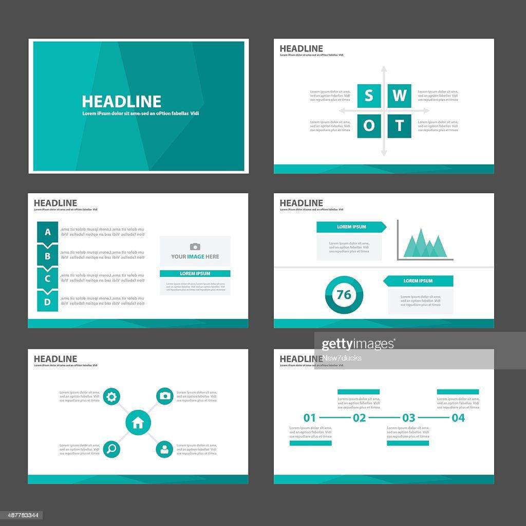 Green Multipurpose Infographic elements presentation template