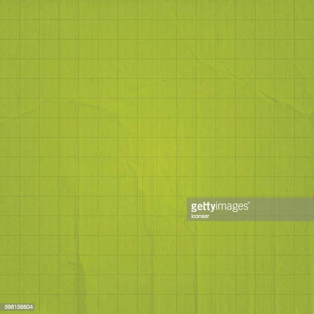 Green olive paper and cardboard background with grid