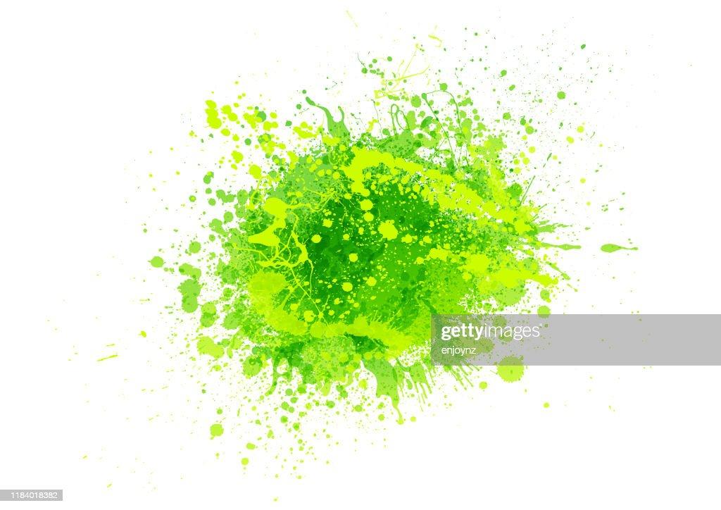 green paint splash : Stock Illustration