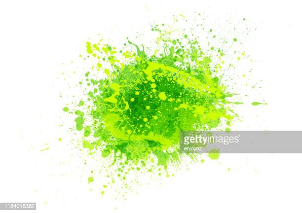 green paint splash - color image stock illustrations