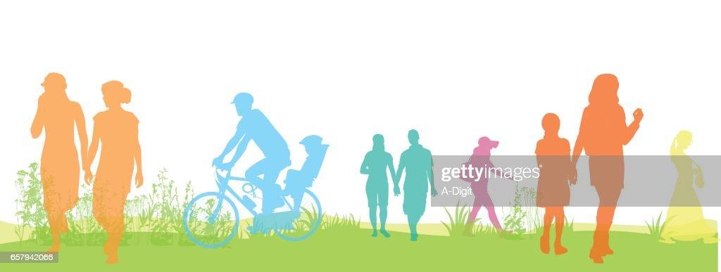 Green Park Walks : stock illustration