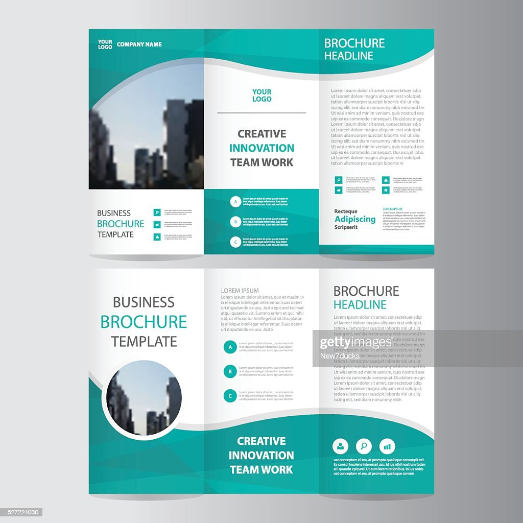 Green polygon elegance business trifold business Leaflet Brochure flyer
