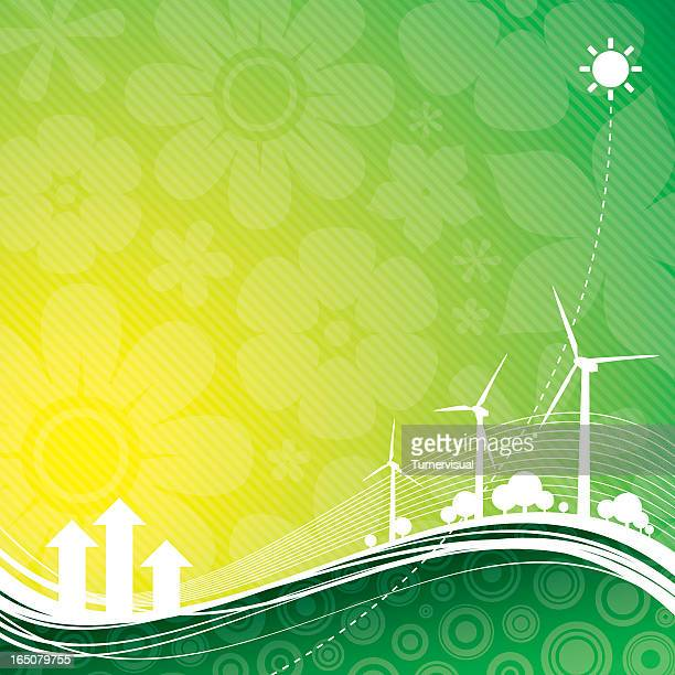 green power background - focus on background stock illustrations