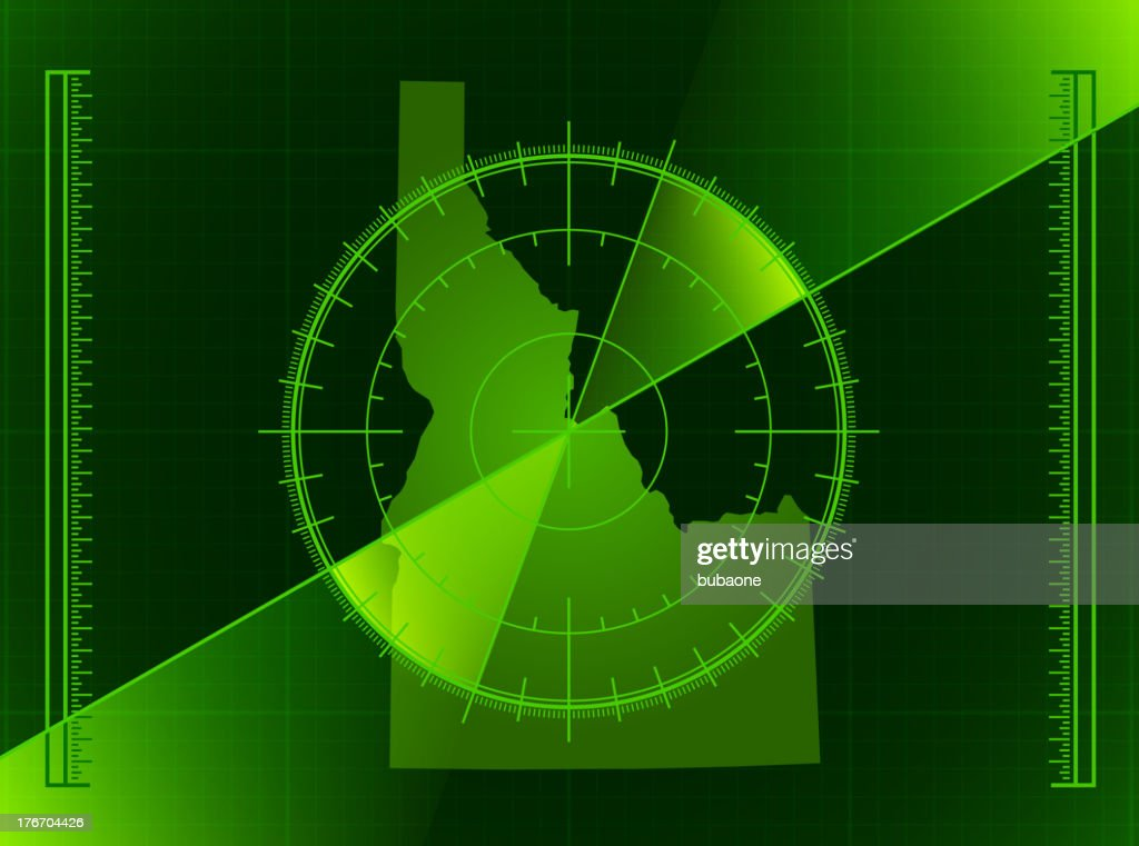 Green Radar Screen And Idaho State Map Vector Art   Getty Images
