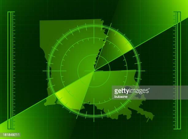 green radar screen and louisiana state map - rfid stock illustrations, clip art, cartoons, & icons