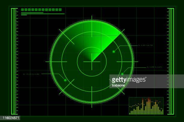green radar screen - rfid stock illustrations, clip art, cartoons, & icons