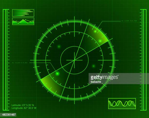 green radar screen with targets - military stock illustrations