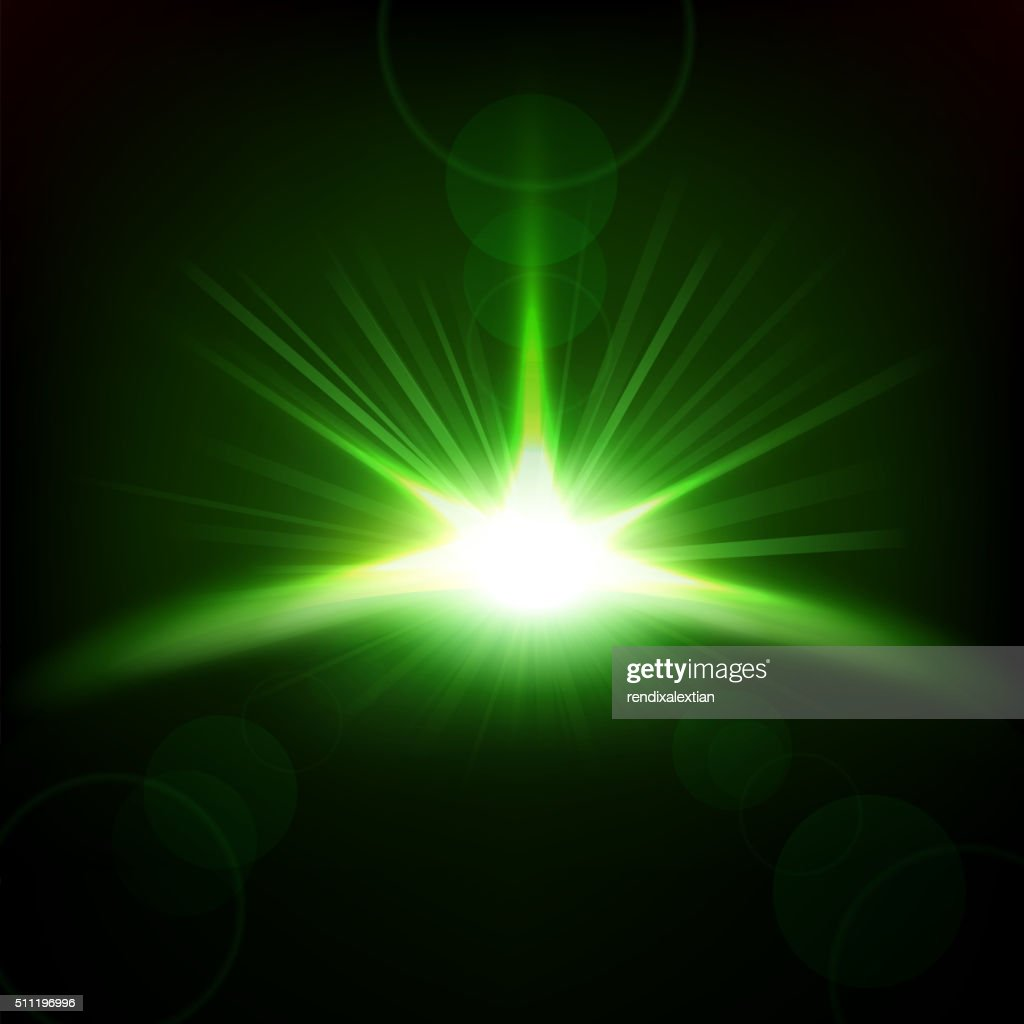 Green Rays rising background