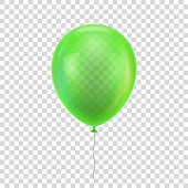 Green realistic balloon.