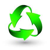 Green recycle arrows, recycle simbol, vector