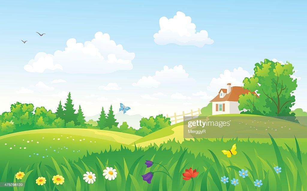 Green rural scenery