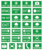 Green Safty Sign 05