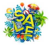 Green Sale symbol summer season