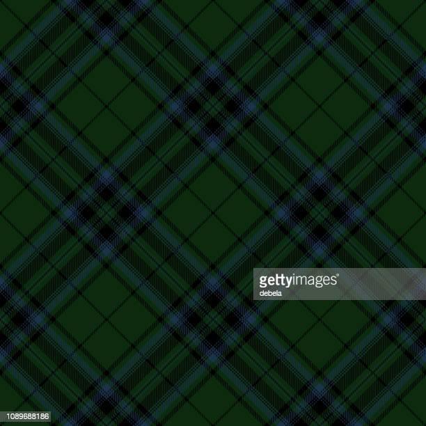 Green Scottish Tartan Plaid Textile Pattern
