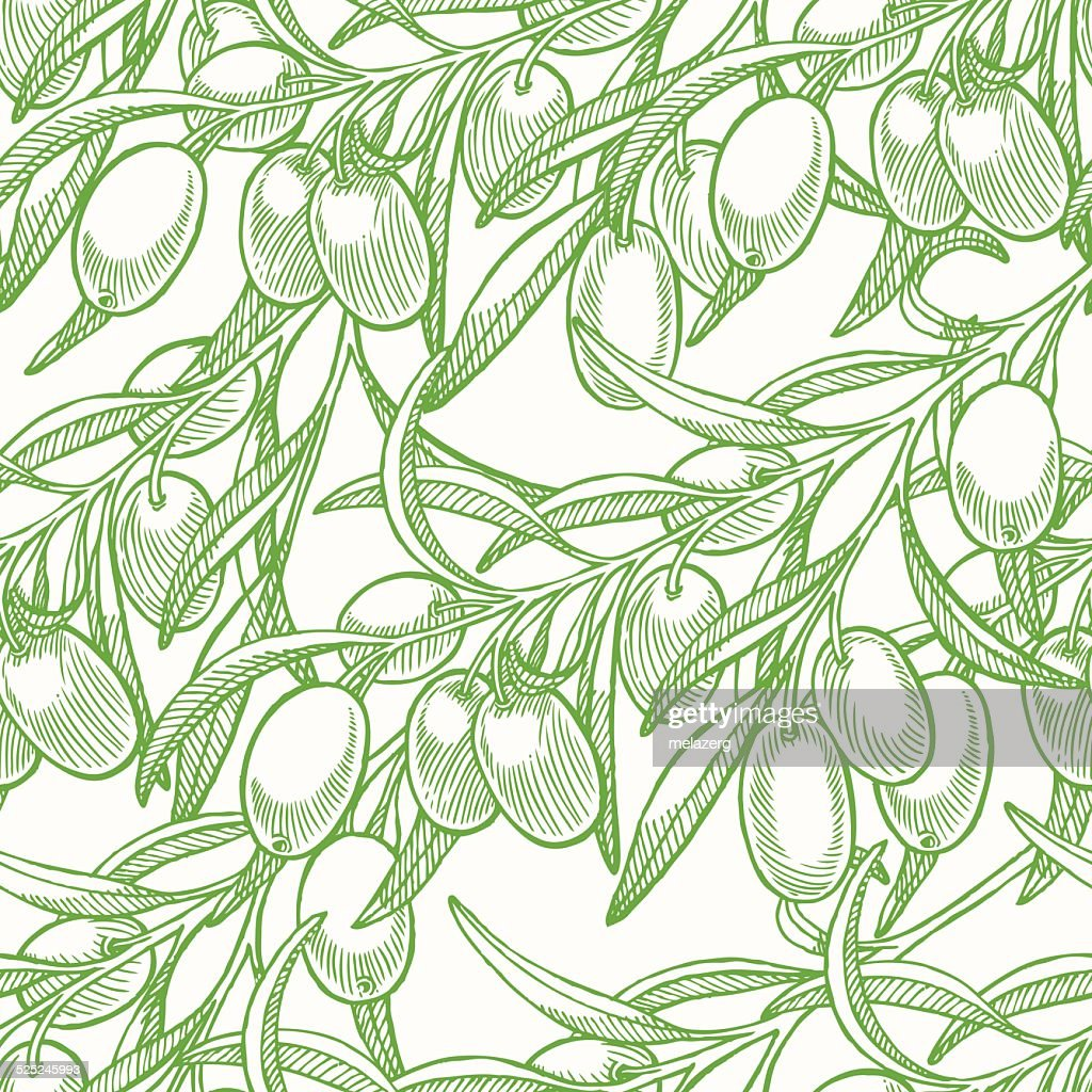 green seamless background with olives