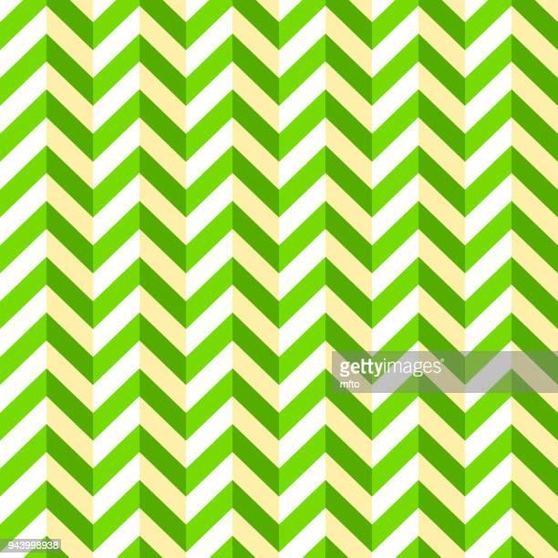 stockillustraties, clipart, cartoons en iconen met groene naadloze chevron patroon - gekanteld