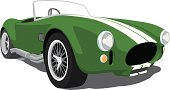 Green Shelby Cobra Roadster