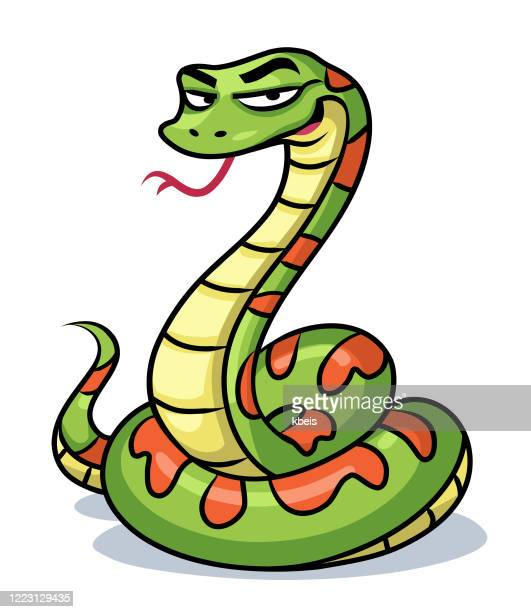 ilustraciones, imágenes clip art, dibujos animados e iconos de stock de serpiente verde - cobra