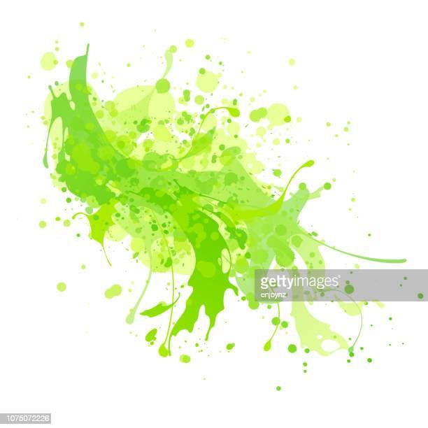 grünen spritzer hintergrund - frische stock-grafiken, -clipart, -cartoons und -symbole