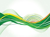 Green splash design-Stock Illustration