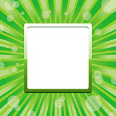 Green square frame template