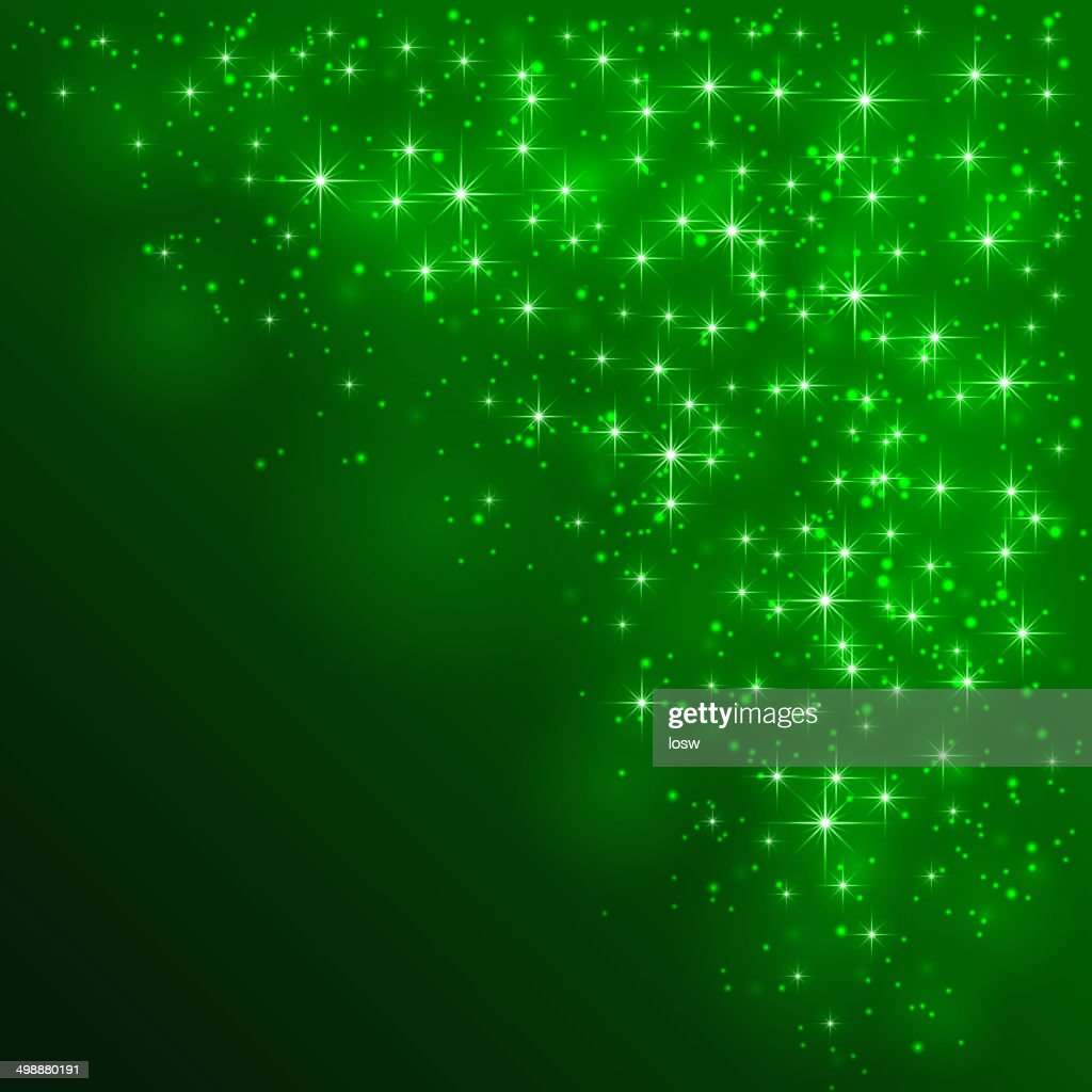 Green starry background