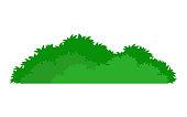 green stylized bush icon