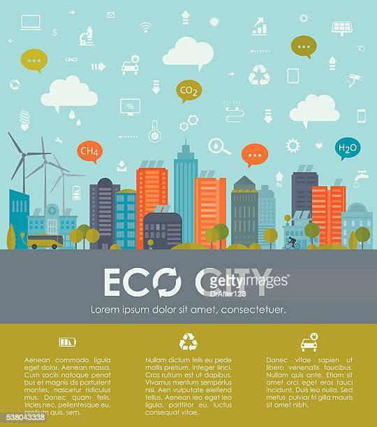 Umweltfreundliche und nachhaltige Stadt Vorlage